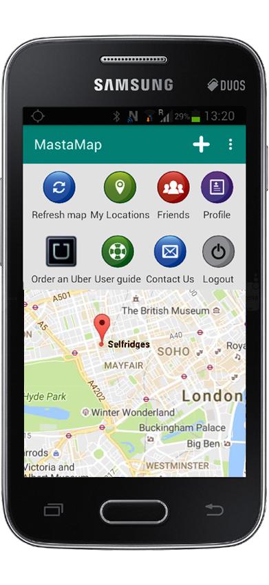 MastaMap phone London